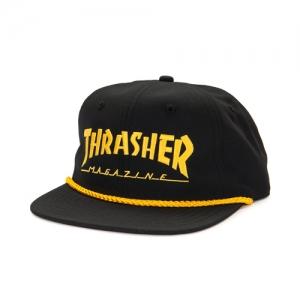 9936d5993dd ... Logo Rope Snapback - Black Thrasher 43